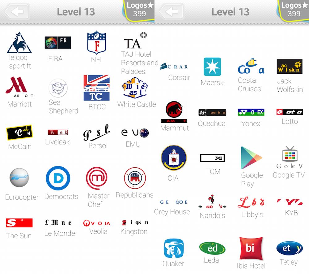 Logo Quiz Lösungen Level 13 -