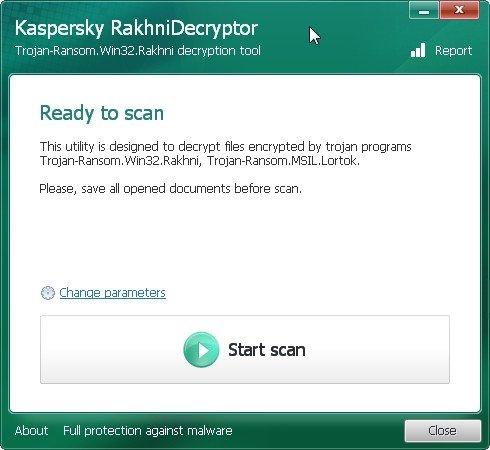 Kaspersky RakhniDecryptor sucht und repariert die befallenen Dateien