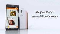 Samsung Galaxy Note 4: Weitere Werbespots veröffentlicht