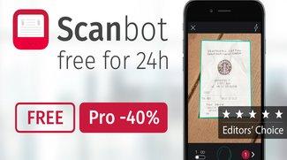Scanbot kostenlos für iOS und Android, Pro-Features reduziert