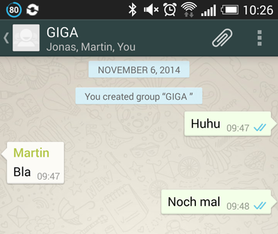 was bedeutet ein grauer haken bei whatsapp