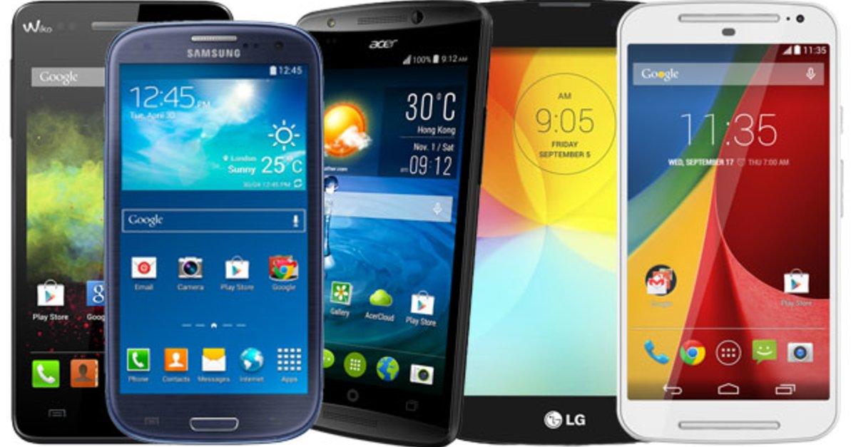 top 5 die besten android smartphones 2014 f r unter 200. Black Bedroom Furniture Sets. Home Design Ideas