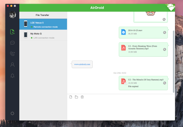 airdroid 3 gro es update bringt screen mirroring. Black Bedroom Furniture Sets. Home Design Ideas