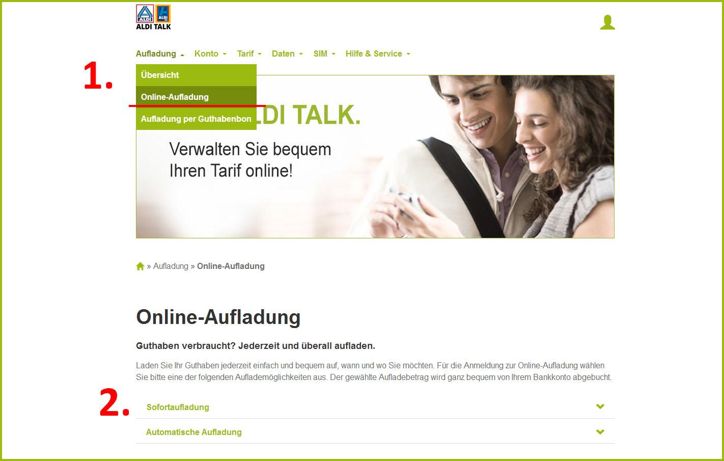 Aldi Talk Online Aufladen Paypal