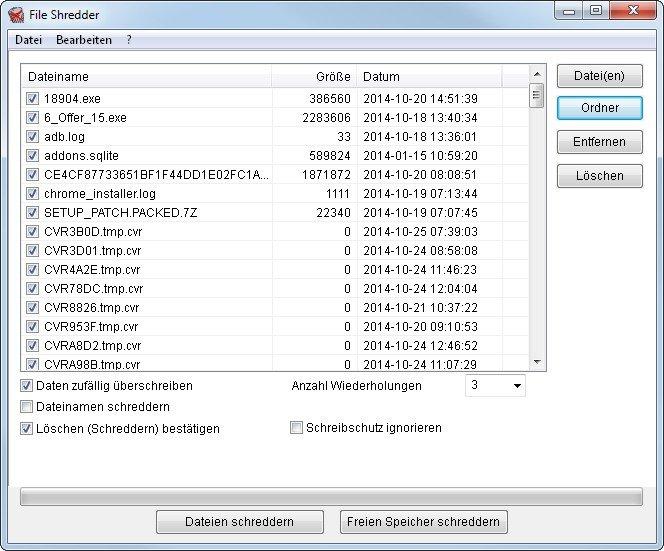 Mit dem Alternate File Shredder löschen wir Daten restlos!
