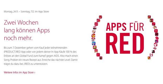 Apps für (Red): Apple spendet App-Erlöse für AIDS-Hilfe in Afrika