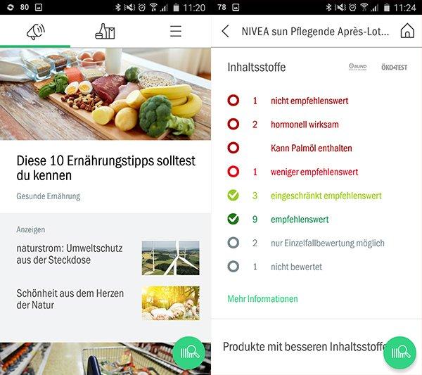Sieht schick aus und bietet viele Tipps für gesunde Ernährung und verantwortungesbewusstes Einkaufen: Codecheck.