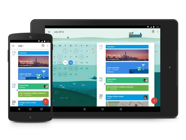 Google Kalender: Neue App-Version mit Material Design & Gmail-Integration läuft ab Android 4.0 [APK-Download]