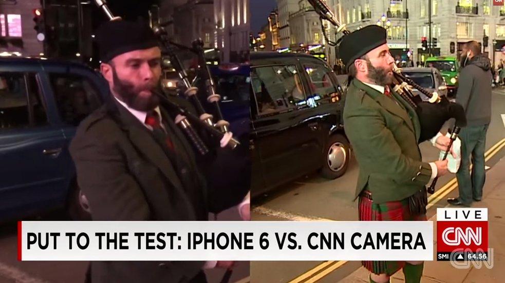 Video-Vergleich: iPhone 6 vs professionelle CNN-Videokamera