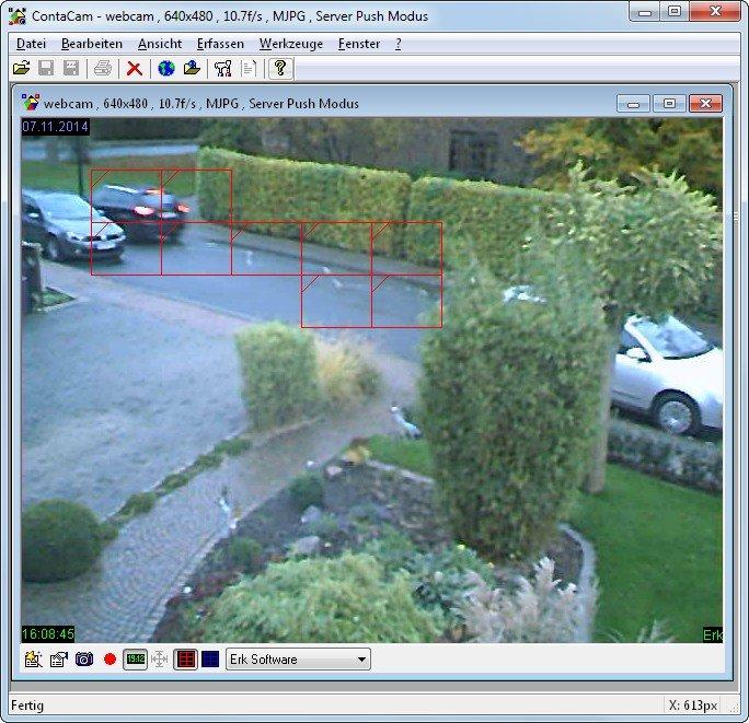 ContaCam erweitert die Webcams um eine Bewegungsüberwachung