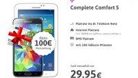 100 € Cashback! Telekom- und Internet-Flat mit gratis Galaxy S5 und Galaxy Tab für 29,95 €/Monat