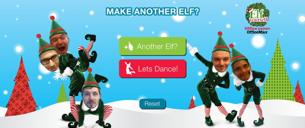 Elf yourself giga android app for Weihnachtskarte per mail