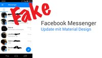 Facebook Messenger: Angeblicher Screenshot mit Material Design ist ein Fake