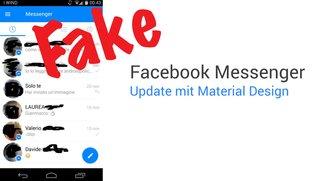 Facebook Messenger: Angeblicher Screenshot mit Material Design ist ein Fake
