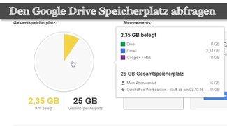 Google Drive: Den Speicherplatz abfragen - so wird's gemacht!