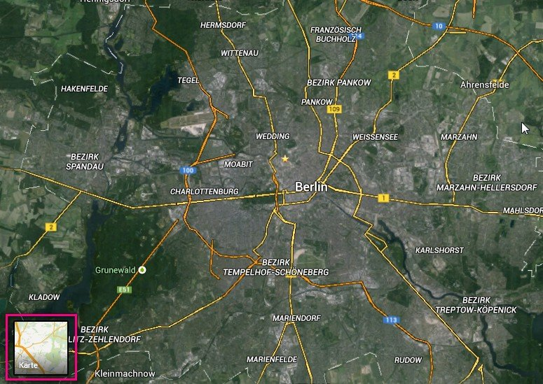 Google Maps aus Satelliten-Sicht