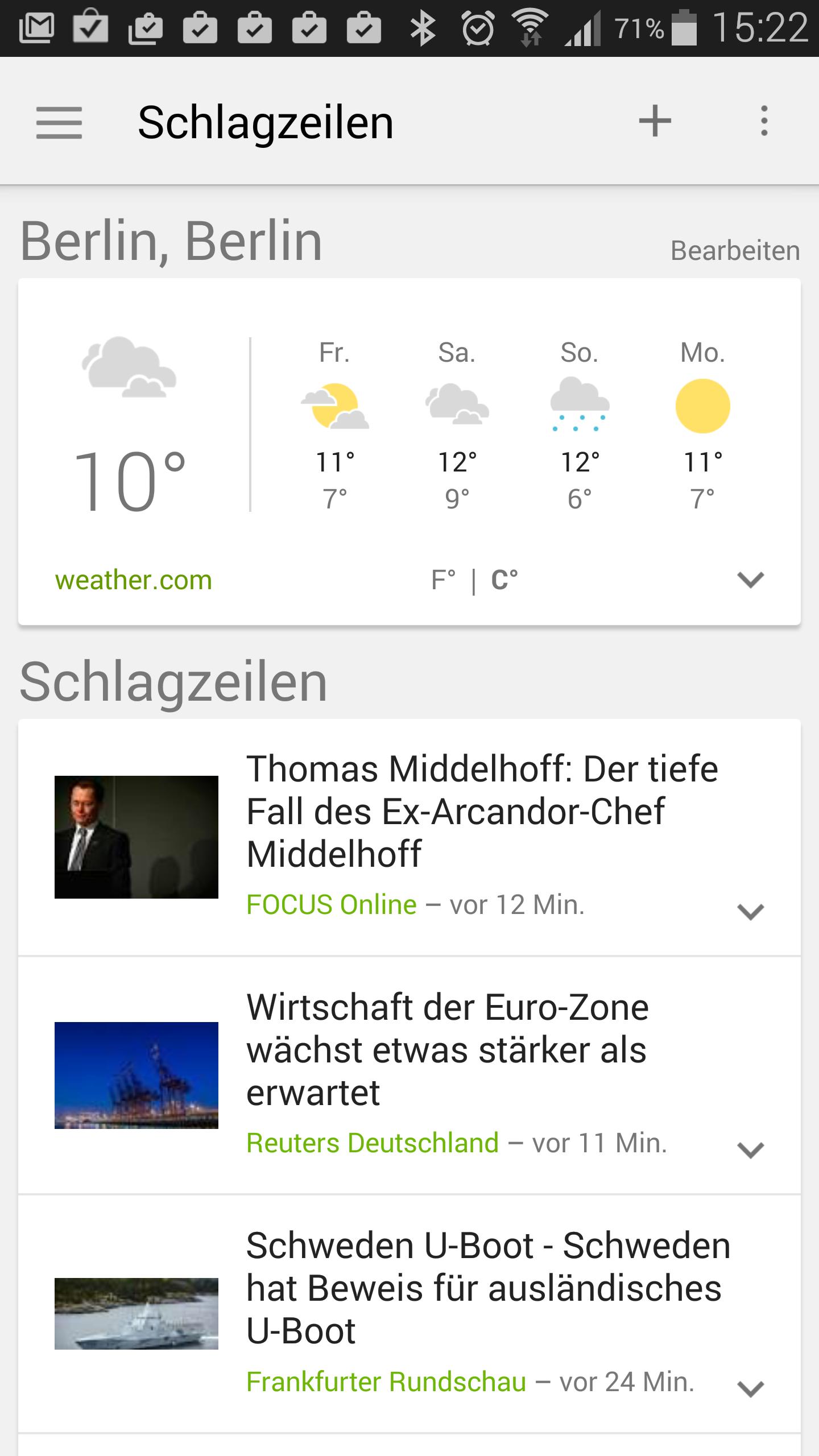 News Und Wetter Update Der Google News App Materialisiert Sich Giga