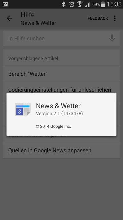 Google News Wetter