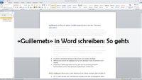 Guillemets in Word: Spitze Anführungszeichen mit der Tastatur schreiben