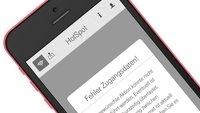 Probleme bei der Verbindung von iOS 8.1.1 mit Telekom-HotSpots