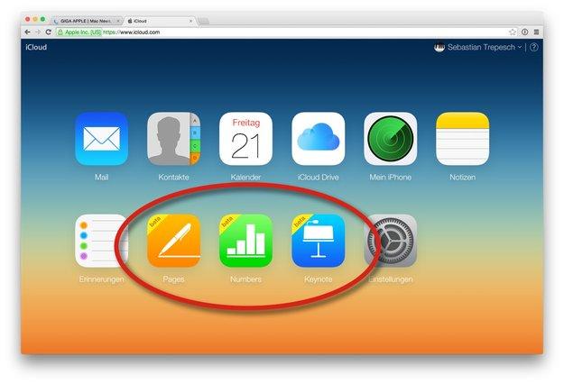 iWork für iCloud jetzt auf Deutsch