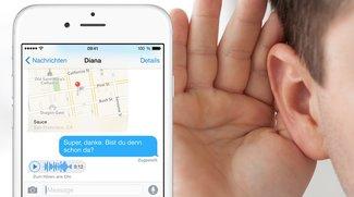 Audionachrichten in iOS 8 ohne Lautsprecher anhören (Mini-Tipp)