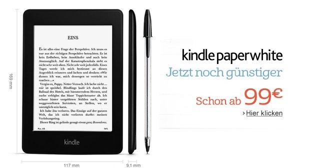 Kindle Paperwhite: Erneute Preissenkung durch Amazon