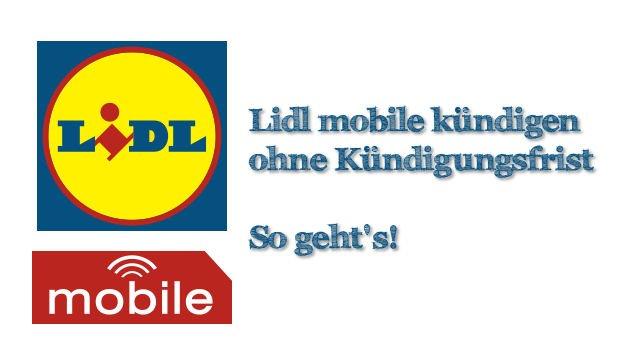 Lidl mobile kündigen – so geht's