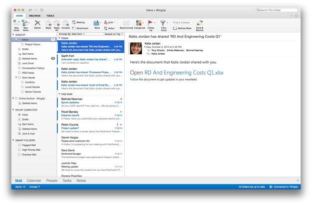 Microsoft veröffentlicht neues Outlook - neues Office kommt 2015