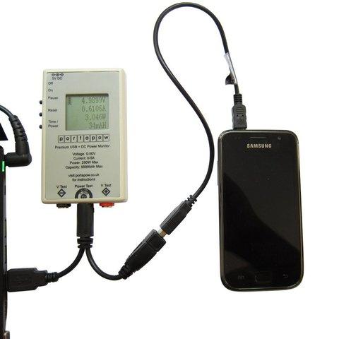 Es gibt mittlerweile auch spezielle Messgeräte für USB, um den übertragenen Strom und die Spannung zu überprüfen.