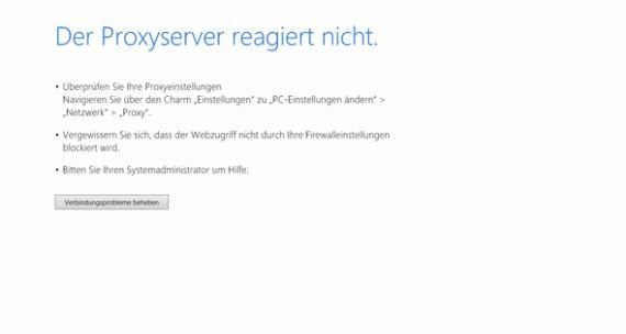 Proxy-Server reagiert nicht: Das kann man in Chrome, Firefox und Co. tun