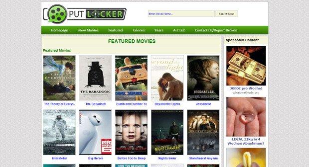 Putlocker: Top-Filme online und kostenlos anschauen - Ist das legal?