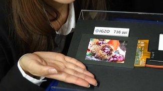 Sharp präsentiert Smartphone-Display mit 736ppi