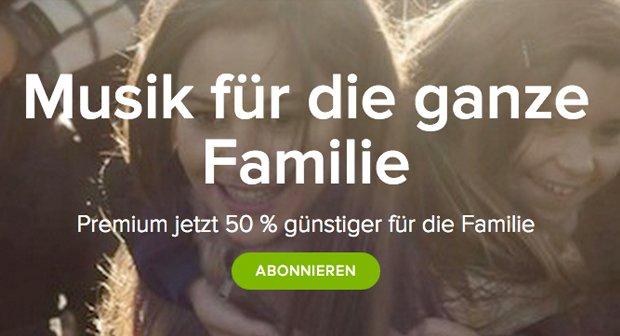 Spotify Family bietet Vergünstigungen für weitere Nutzer
