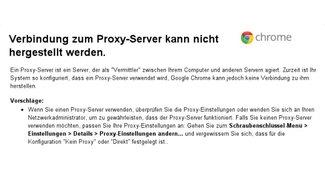 """""""Verbindung zum Proxyserver kann nicht hergestellt werden"""": Probleme im Browser beheben"""