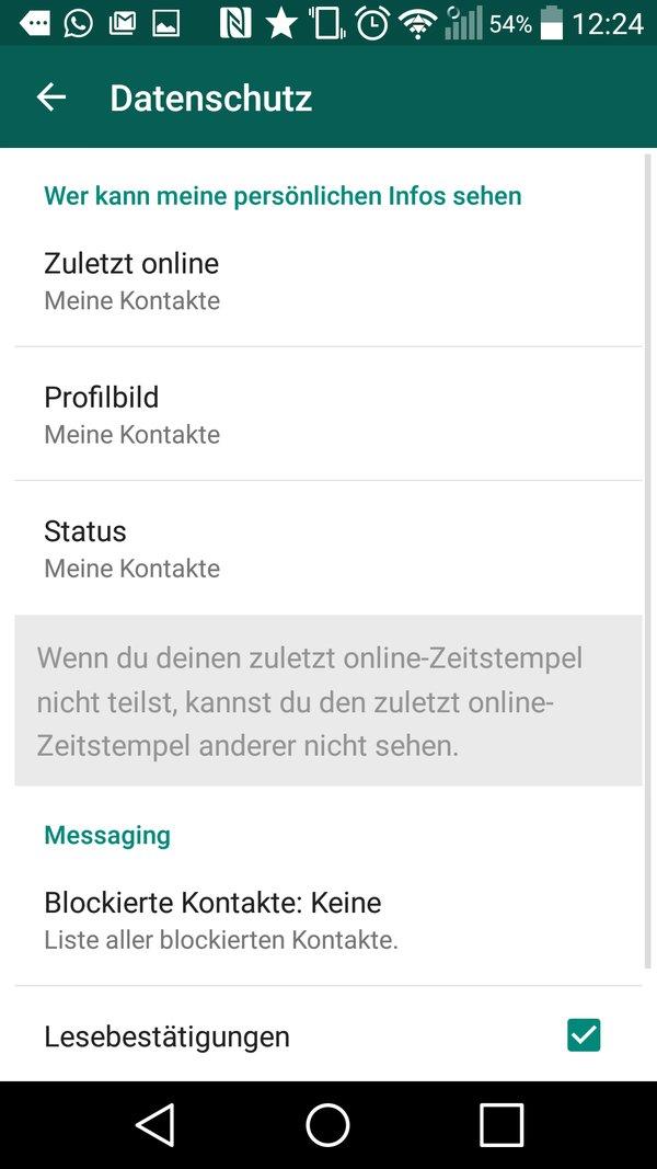 Gelesen-Status für Android-Smartphones ausschalten