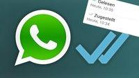 WhatsApp zeigt, wann Nachrichten zugestellt & gelesen wurden