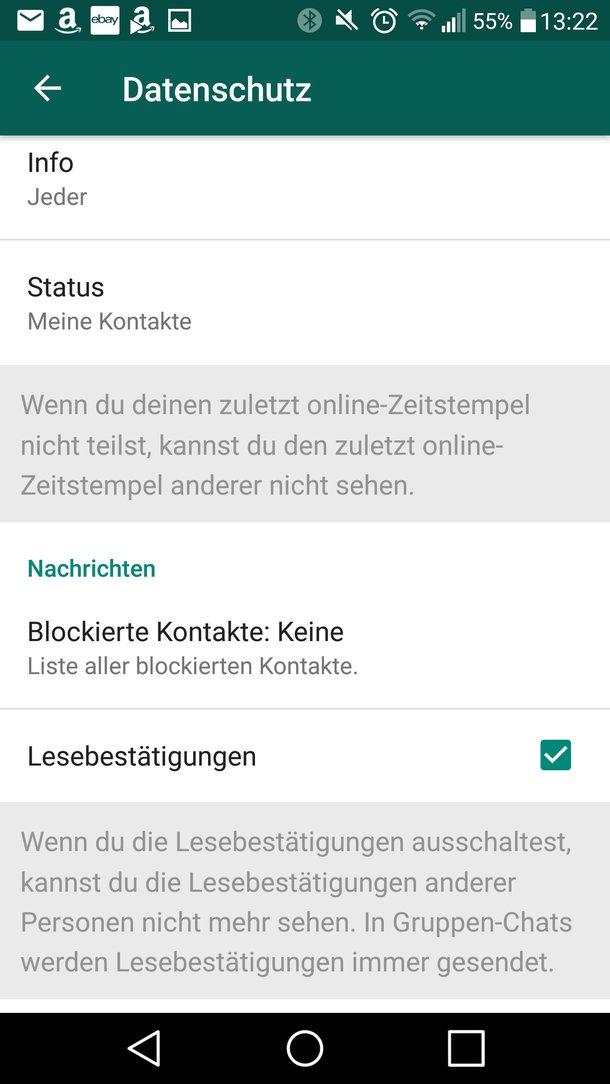 WhatsApp: Lesebestätigung aktivieren, abschalten und