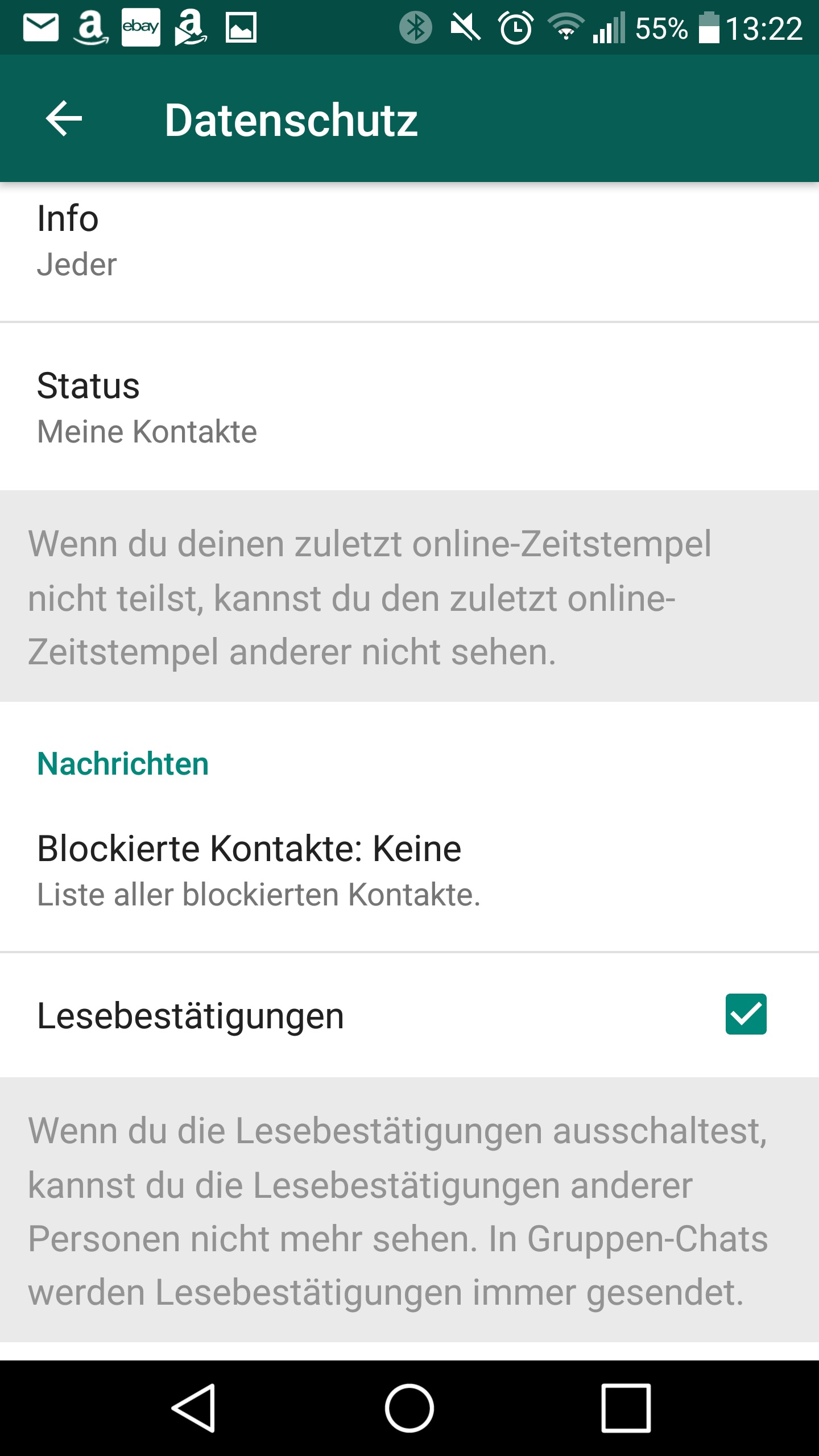Whatsapp Lesebestätigung Aktivieren Abschalten Und