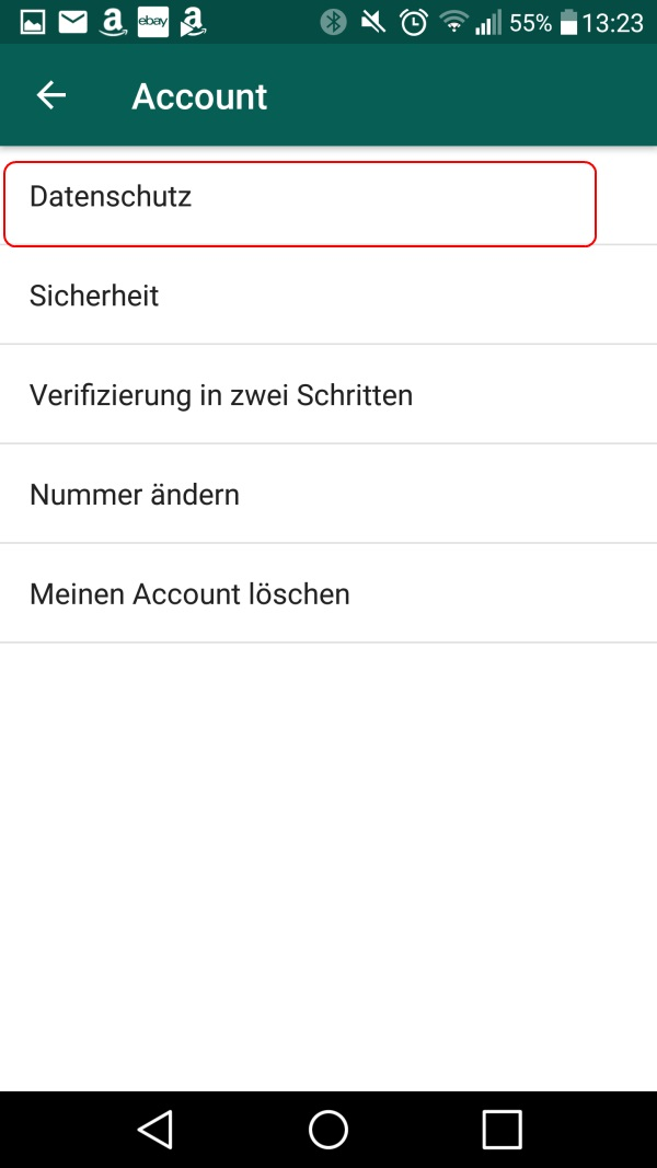 Whatsapp status lesebestätigung deaktivieren