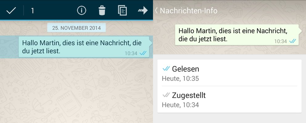whatsapp-zustellinformationen
