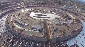Apple Campus 2: Dronenvideo dokumentiert Baufortschritt