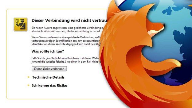 """Firefox: """"Dieser Verbindung wird nicht vertraut"""" - Lösungen und Hilfen"""