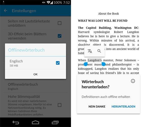 Google Play Books bekommt Offline-Wörterbücher (APK-Download)