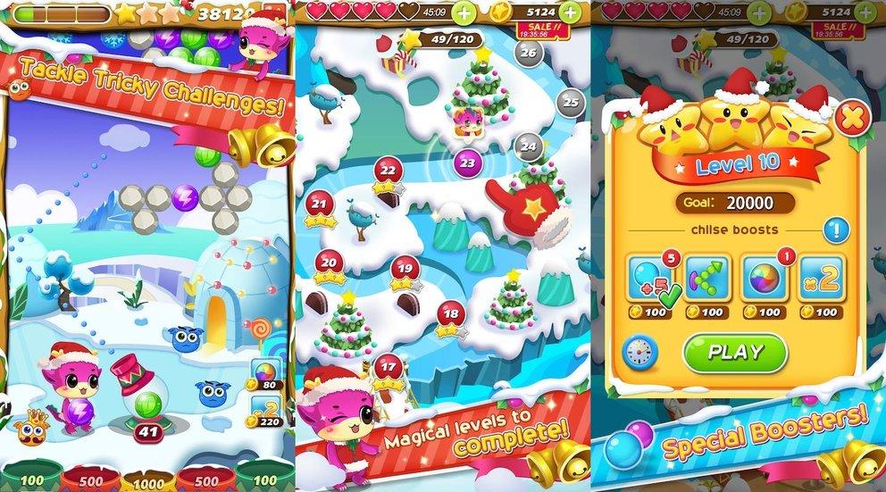 Weihnachts-App Bubble Spiele Weihnachten