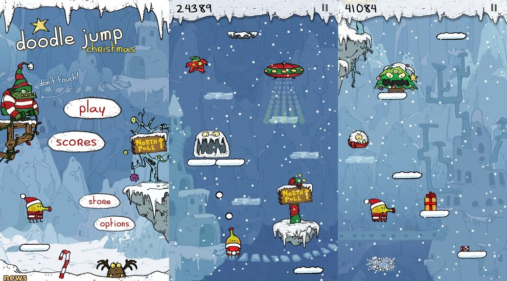 Weihnachts-App Doole Jump Christmas