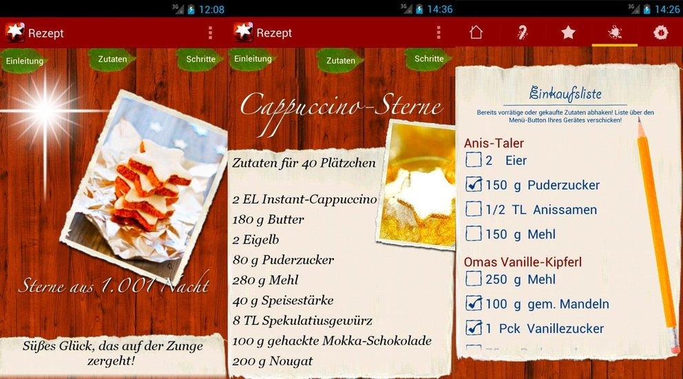 Weihnachts-App Plaetzchen Rezepte