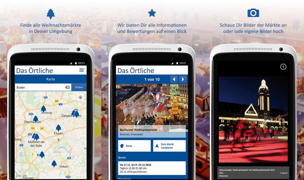 Weihnachts-App Weihnachtsmarkt-Finder