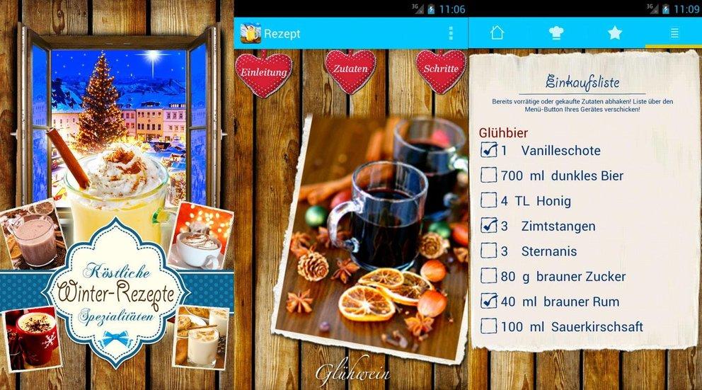 Weihnachts-App Winter Rezepte