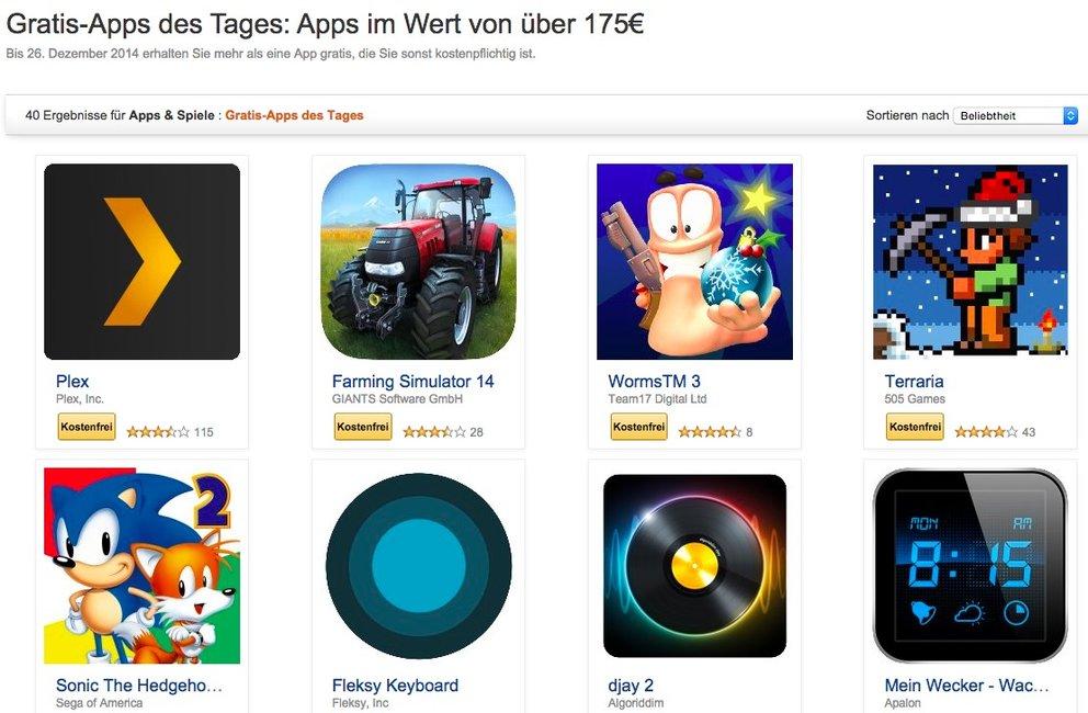 Amazon: 40 Apps und Spiele im Wert von über 175 Euro für kurze Zeit ...